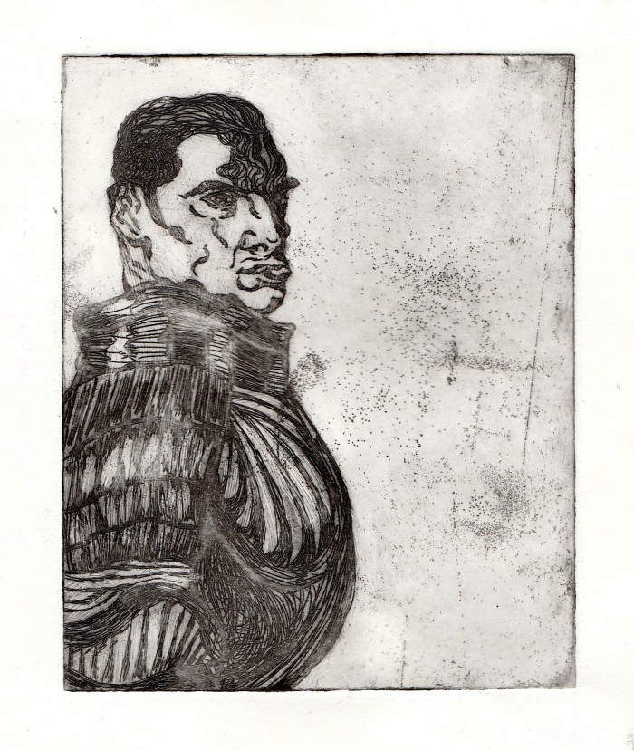 glaring-man-etching